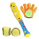 4-teiliges Kinderbaseballspielzeug-Set mit 2 Bällen + Schläger + Handschuh, großartigem...