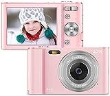 Vnieetsr Digitalkamera, 2,7K Full HD Fotokamera, 44MP 16X Zoom-Kompaktkamera mit 2,88 Zoll...