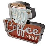 Tubayia Vintage Kaffee LED Lichtbox Leuchtschild Lichtkasten für Bar, Café, Restaurant, Club...