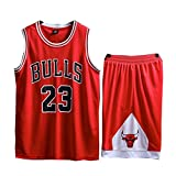 LinkLvoe Sommer Trikots Basketball Uniform, Junge Männer NBA Michael Jordan # 23 Chicago Bulls...