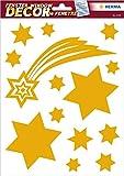 HERMA 15109 Fensterbilder 'Gold Sterne', wiederverwendbar, selbstklebende Fenstersticker aus Folie...