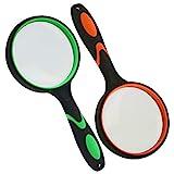 HAKACC 2 Stück Lupe Handheld Lupe für Senioren Kinder Scout Entdecker Lupe für...