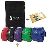 SUPERLETIC Powerbands, Widerstands-Fitness-Bnder, Pullup und Resistance-Training, 5 Strken, rot,...
