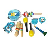 Wiivilik 10pcs / Set Musikspielzeug Schlaginstrumente Band Rhythm Kit Kindergarten-Lehrmittel...