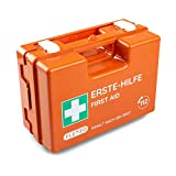 Erste-Hilfe-Koffer für Betriebe mit Inhalt nach DIN 13157 in orange, Verbandkasten gefüllt und mit...