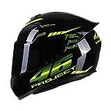 KKmoon Integralhelm Helm Kopfumfang 59-60cm Motorradhelm Street Helm Unisex Adult für Motorrad L...