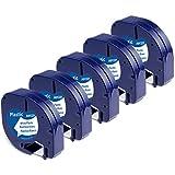 Aken kompatibel Etikettenband als Ersatz für Dymo Letratag XR Bänder für Dymo LT-100H LT100T...