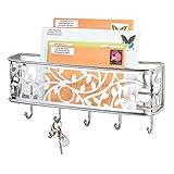 mDesign Schlsselbrett mit Ablage - vielseitiges, wandmontiertes Schlsselboard aus Metall fr...