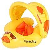 Peradix Baby Schwimmreifen, Baby Schwimmring Schwimmtrainer mit abnehmbarem Sonnendach, Kinderboot...