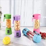 4 Klingen Mini USB wiederaufladbare tragbare elektrische Fruchtsaftpresse Smoothie Maker Mixer...