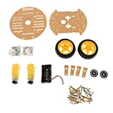 Unbekannt Smart Car Chassis 2WD / Robot Tracing Vermeidung Auto + 2 Motor + 2