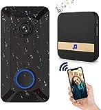 Wireless Video-Türklingel-Kamera mit Ring Chime, klaren Bild und Video, IP55 wasserdicht,...