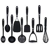 9-teiliger Küchenhelfer Set Küchenutensilien Schwarz Kochbesteck Set Küchenhelfer für...