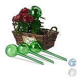 Relaxdays Bewässerungskugeln, 4er Set, Dosierte Bewässerung, 2 Wochen, Versenkbar, Topfpflanzen,...