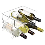 mDesign 2er-Set Flaschenregal – stapelbare Aufbewahrung für Wasserflaschen bzw. Trinkflaschen –...