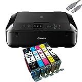 Canon Pixma MG5750 Multifunktionsgert Schwarz Mit USB Kabel Und 5 YouPrint Tintenpatronen (Drucker,...