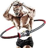 Hula Hoop Reifen für Erwachsene, Edelstahlkern Gewichtsreduktion Fitnesskreis Gewicht Einstellbar...