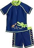 Playshoes Jungen UV-Schutz Bade-Set Krokodil Badehose, Blau (Marine 11), 110 (Herstellergröße:...
