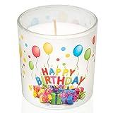 Smart Planet Geburtstagskerze Happy Birthday Kerze im Glas - schönes Geschenk Motiv zum Geburtstag...