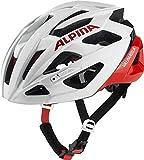 ALPINA VALPAROLA Fahrradhelm, Unisex– Erwachsene, white-red, 51-56