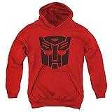 Transformers Autobot Unisex-Kapuzenpullover für Jungen und Mädchen - Rot - Mittel