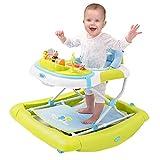 KKJKK 2 in 1 Aktivität Center Baby Lauflernhilfe Lauflernwagen Sicher Drücken Rocker mit Musikbox...