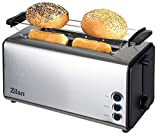 Toaster Langschlitz | 4 Scheiben Toastautomat | XXL Toaster | 1300 Watt | 5-Stufen Bruneregler |...