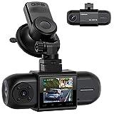 Campark Dashcam Dual FHD 1080P Vorne und Hinten, Autokamera mit GPS, Akku und IR-Nachtsicht, 170°...