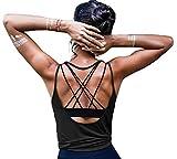 ZJCTUO Damen Sport Tops Yoga Rückenfreier Träger Tanktop Fitness Workout Training Locker Shirt Dry...