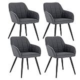 WOLTU 4 x Esszimmerstühle 4er Set Esszimmerstuhl Küchenstuhl Polsterstuhl Design Stuhl mit...