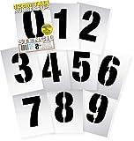 Schablonen , gro, 12 cm hoch, modernes Design, wiederverwendbare Zahlen 0123456789 auf 10 separaten...