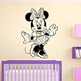 Tianpengyuanshuai Nette Maus Wandtattoos Baby Kindergarten Dekoration Vinyl Wandaufkleber niedlichen...