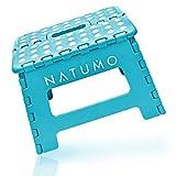 NATUMO® Premium Tritthocker Klapphocker 150kg - Faltbar Küchenhocker Klapptritt Bad-Hocker...