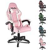 bigzzia, Gaming-Stuhl, Bürostuhl, Schreibtischstuhl, Drehstuhl, Schwerlaststuhl, ergonomisches...