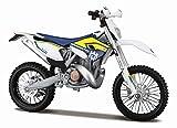Maisto Husqvarna FE 501: Originalgetreues Motorradmodell 1:12, mit beweglichem Ständer, Federung...