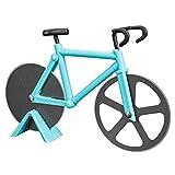 YM26 Pizzaschneider Fahrrad Pizzaroller,Edelstahl Pizza Schneider mit Zwei Scharfen Rädern für...