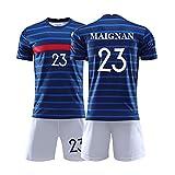 XH Kinderfußballtrikot Mike Maignan # 23 T-Shirt Sweatshirts, Kindergröße, 16-28 Code (Color :...