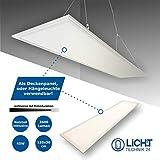 LED Panel 120x30cm, weiß, 45W LED Büroleuchte, Pendelleuchte, flache LED Deckenleuchte,...