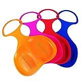 Generic 4 x Schneeflitzer zum Rodeln Schneerutscher Schlitten für Kinder ganze Familie - Farbe:...