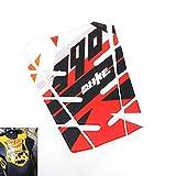 Motorrad-Aufkleber Emblem Tankpad Aufkleber Tankpads Schutz for KTM Duke 390 MEI Racing (Color :...