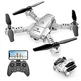 SNAPTAIN A10 Mini Faltbare Drohne mit 720P HD-Kamera FPV WiFi RC Quadcopter mit Sprachsteuerung,...