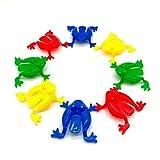 TOYMYTOY Froschspiel Springende Frösche Spielzeug für Kinder Kleinkinder 24 Stücke (zufällige...