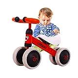 Arkmiido Kinder Laufrad Spielzeug fr 1-3 Jahr, Lauflernrad fr Baby und Kinder, Lauflernrad 4 Rdern,...