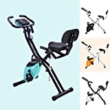 Merax Fitness Bike, Heimtrainer mit Traningscomputure und Expanderb?nder Cycling Bike, 10-stufiger...