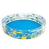 basku Baby Aufblasbarer Pool Kinderpool Planschbecken Schwimmbecken Aufblasbare Außenbadewanne, 152...