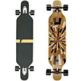 FunTomia Longboard Skateboard Drop Through Cruiser Komplettboard mit Mach1 High Speed Kugellager...