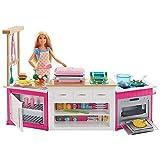 Barbie FRH73 - Cooking und Baking Deluxe Küche Spielset und Puppe, mit Zubehör und Spielknete,...