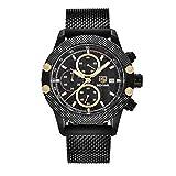 SWJM Sport Chronograph Uhren Männer Mesh Band Wasserdicht Luxusuhr Quarz Armbanduhren Saat Relogio...