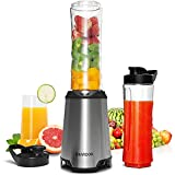 SHARDOR Mixer Smoothie Maker Mix & Go 350W für Gemüse/Obst/Tiefkühlfrüchte/Milch /Juice Shakes...
