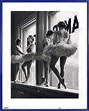1art1 Ballett Poster Kunstdruck und Kunststoff-Rahmen - Ballerinas Auf Der Fensterbank des...